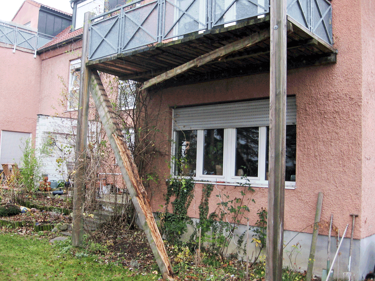 Balkon Nachrüsten reparatur eines balkonträgers in augsburg-göggingen