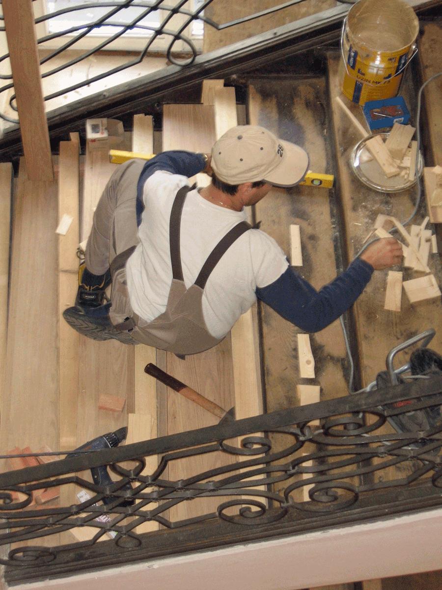 reparaturen an treppen, Moderne