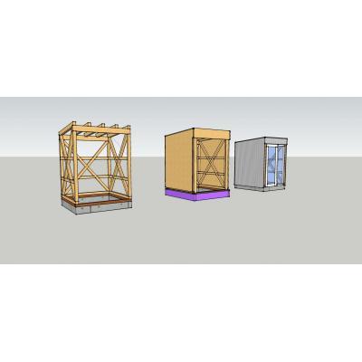 Unterkonstruktion, Beplankung und Verblechung eines Dachausstiegs.