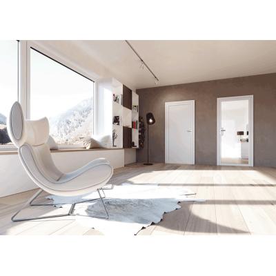 Kombination von Design-Weißlacktür mit Design-Glastür