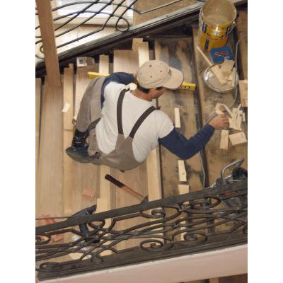Sanierung der Treppe im Standesamt