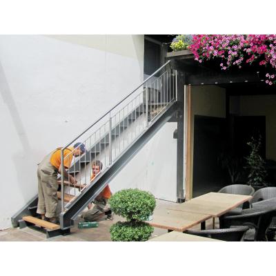 Montage einer Treppenanlage